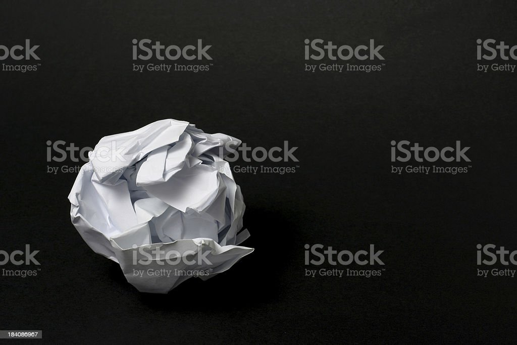 Crumbled Paper stock photo