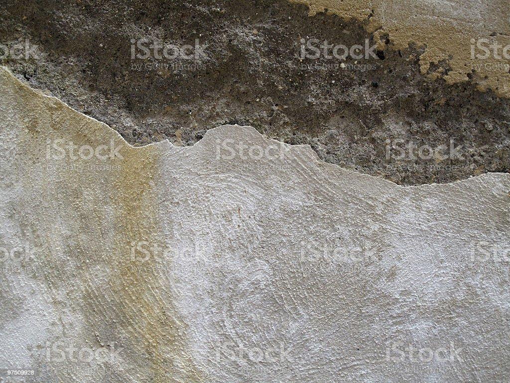 Crumbled wall royalty-free stock photo
