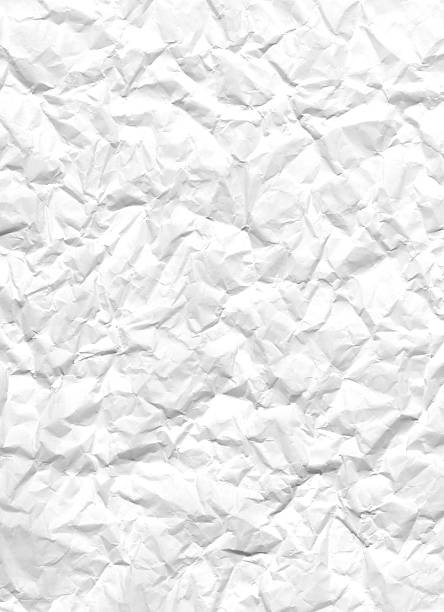 Crumbled White Paper, XXL 5398 x 3912 stock photo