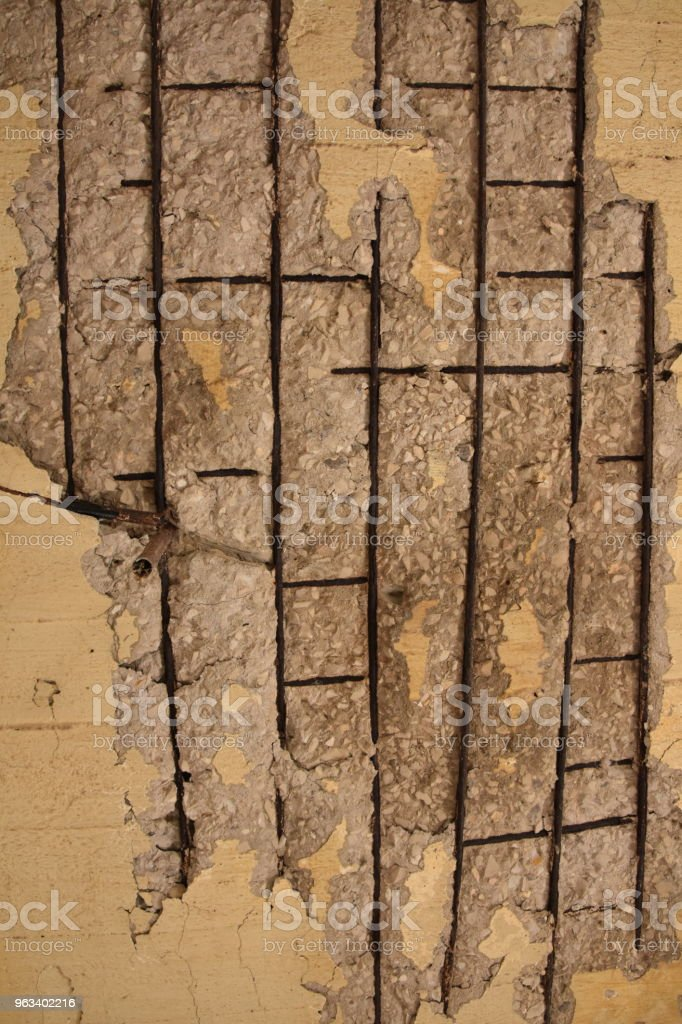 Rozpadająca się betonowa ściana - Zbiór zdjęć royalty-free (Abstrakcja)