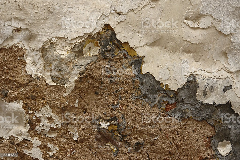 Crumbling down royalty-free stock photo