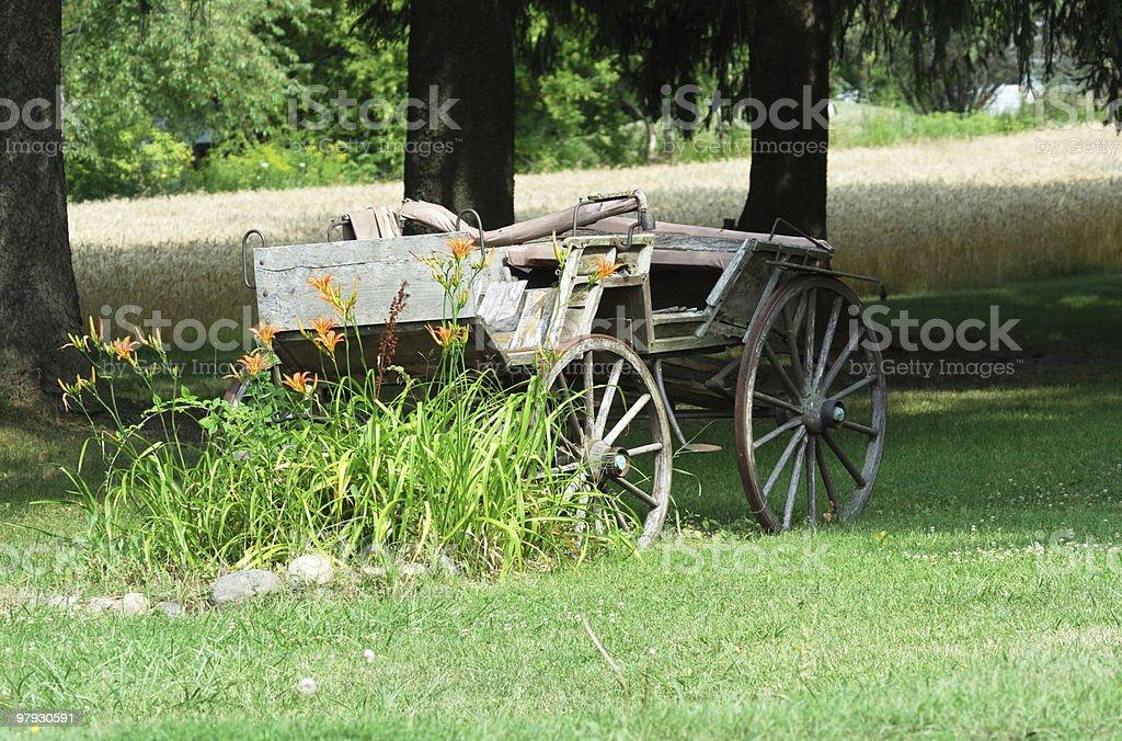 Crumbling Wagon royalty-free stock photo