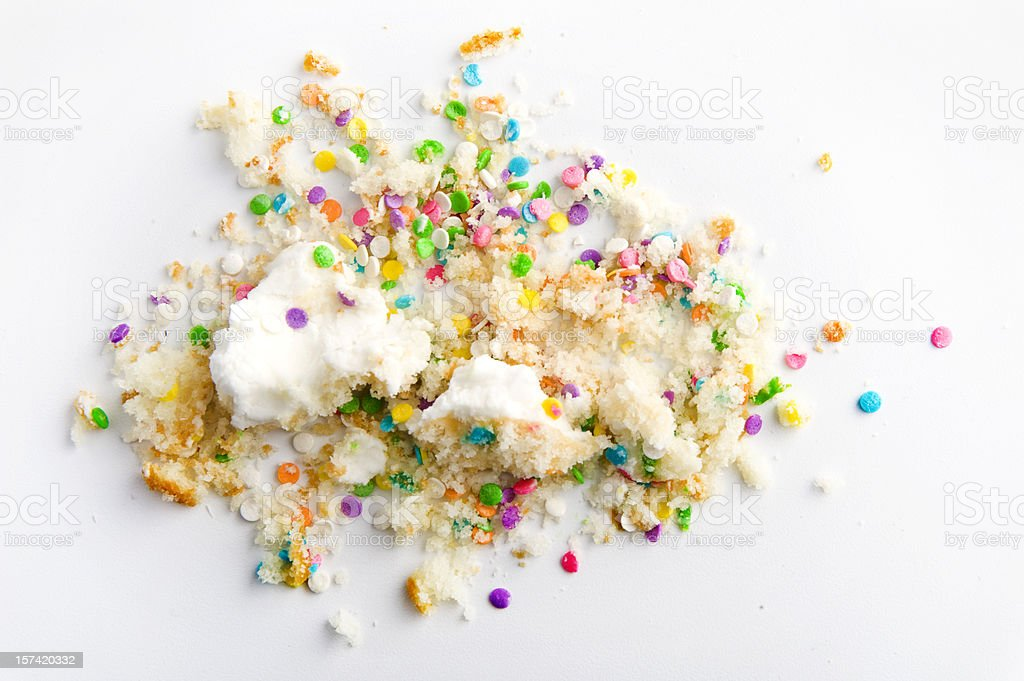 Crumbs and sprinkles stock photo