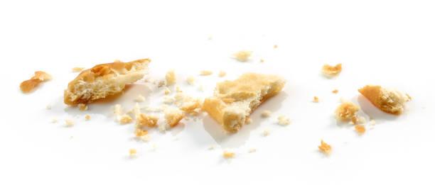 crumbs of cracker macro - briciola foto e immagini stock