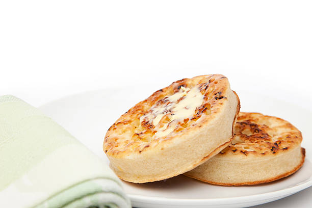 Crumpets stock photo