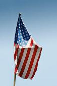 istock Crumpled American flag 471378494
