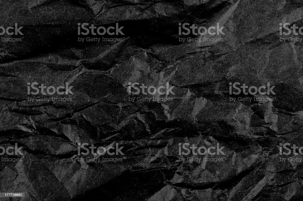 Crumpled black paper royalty-free stock photo