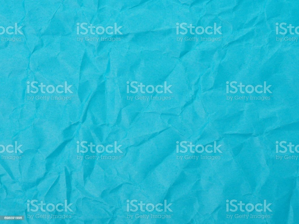 Crumpled blue Construction Paper Background stock photo