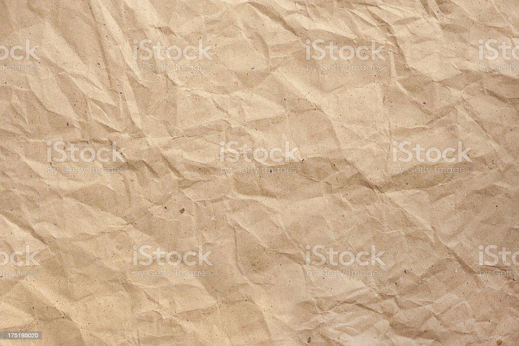 Faltig brown Paper - Lizenzfrei Abstrakt Stock-Foto