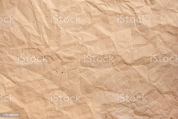 Faltig Brown Paper Stockfoto und mehr Bilder von Abstrakt