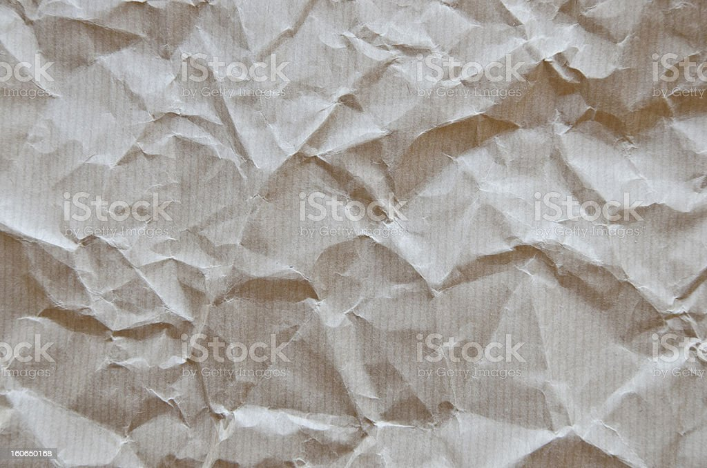 Crumpled brown paper texture royalty-free stock photo