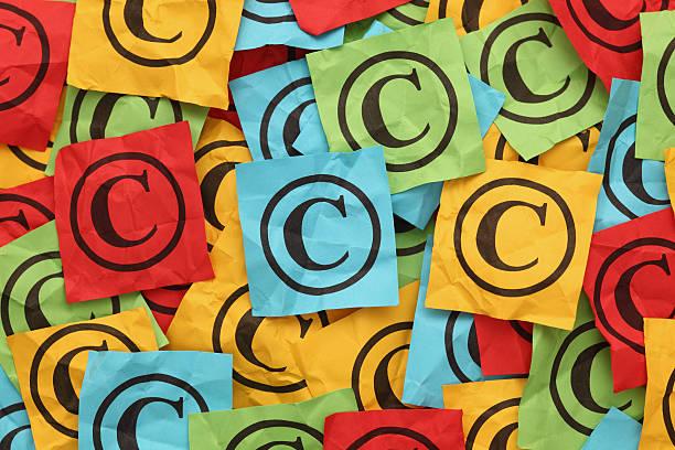 Spiegazzato Copyright - foto stock