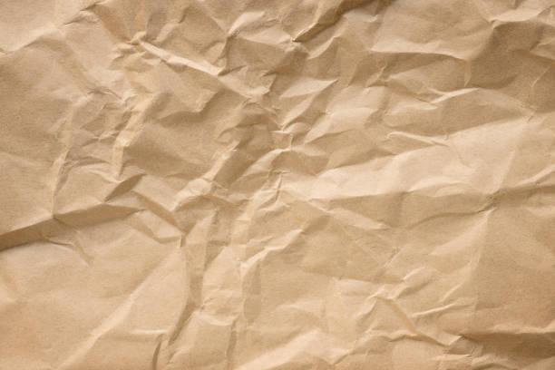 구겨진된 공예 종이 텍스처 - 구겨진 뉴스 사진 이미지