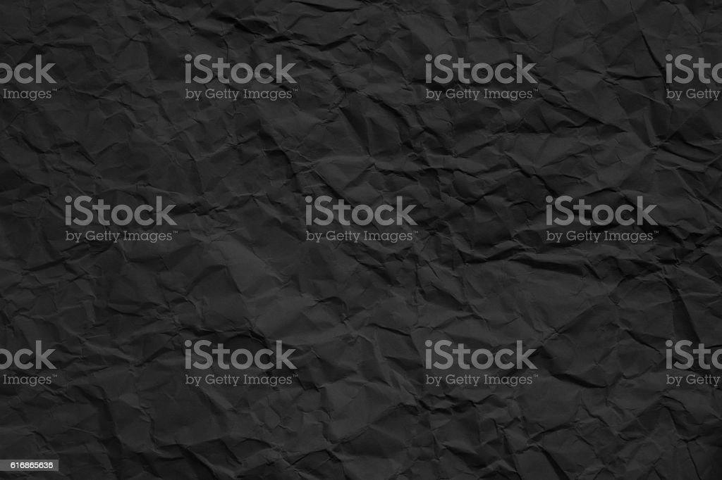 crumpled dark paper texture stock photo