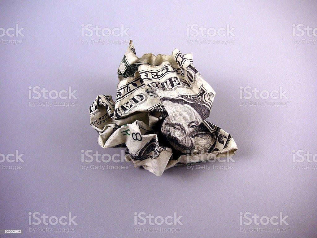 Crumpled Dollar... royalty-free stock photo