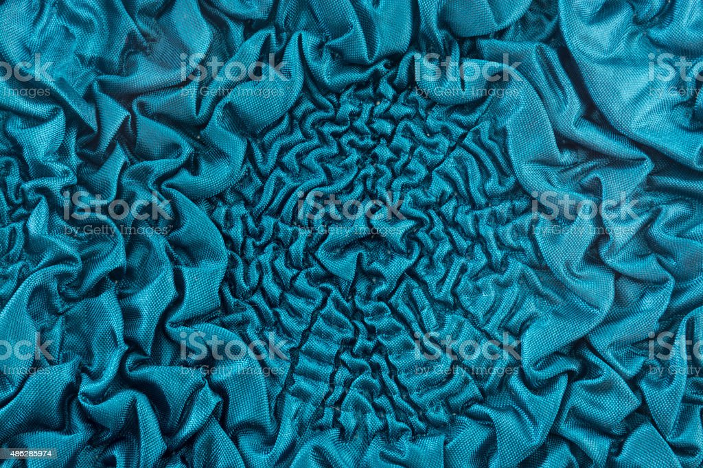 Crumpled fabric with large flowers of brocade stock photo