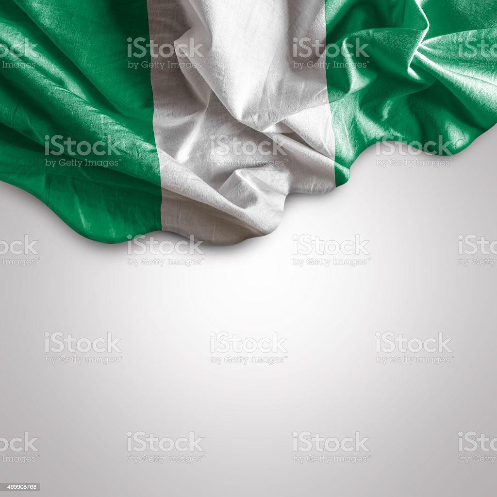 Agitando bandera de Nigeria - foto de stock