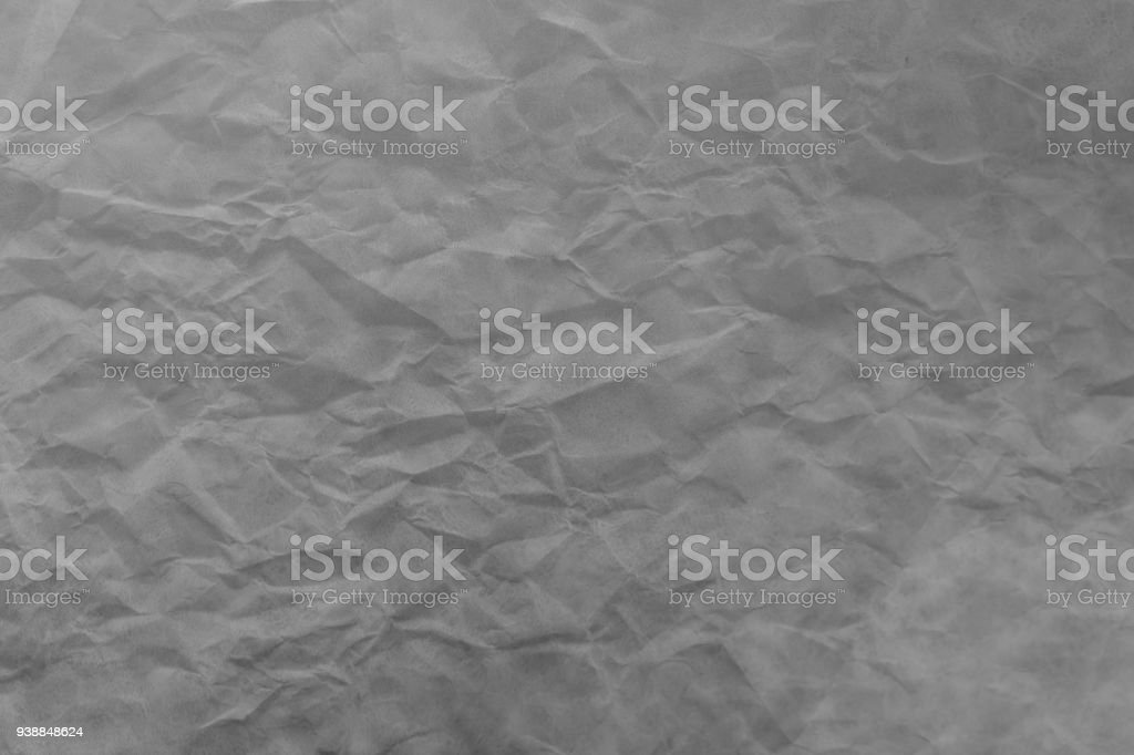 Crumpled Fold White Paper Sheet Background Double Exposure