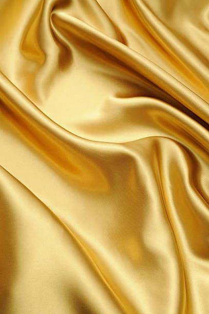 Royalty Free Silk Fabric Wave Background Yellow Satin Cloth Texture Pictures, Images and Stock ...