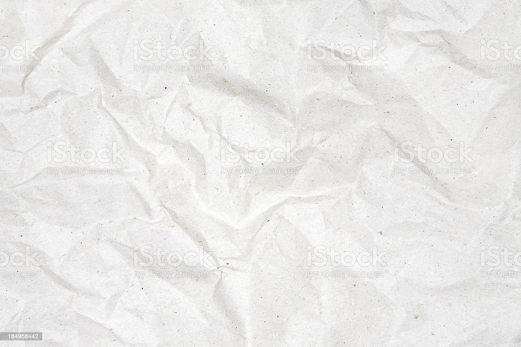 Crumpled Gray Paper Background royalty-free stock photo