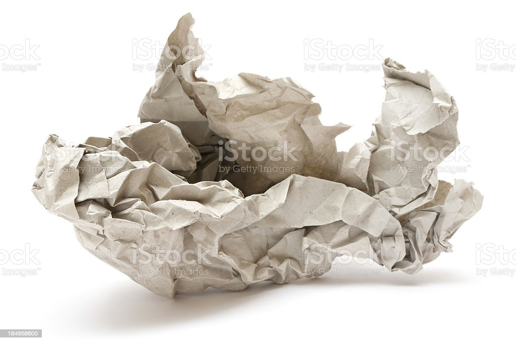 Crumpled Gray Paper royalty-free stock photo