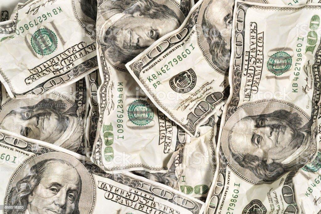 Crumpled money as a background royaltyfri bildbanksbilder