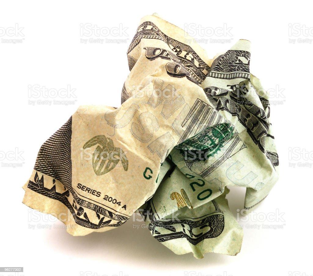 Crumpled money royalty-free stock photo