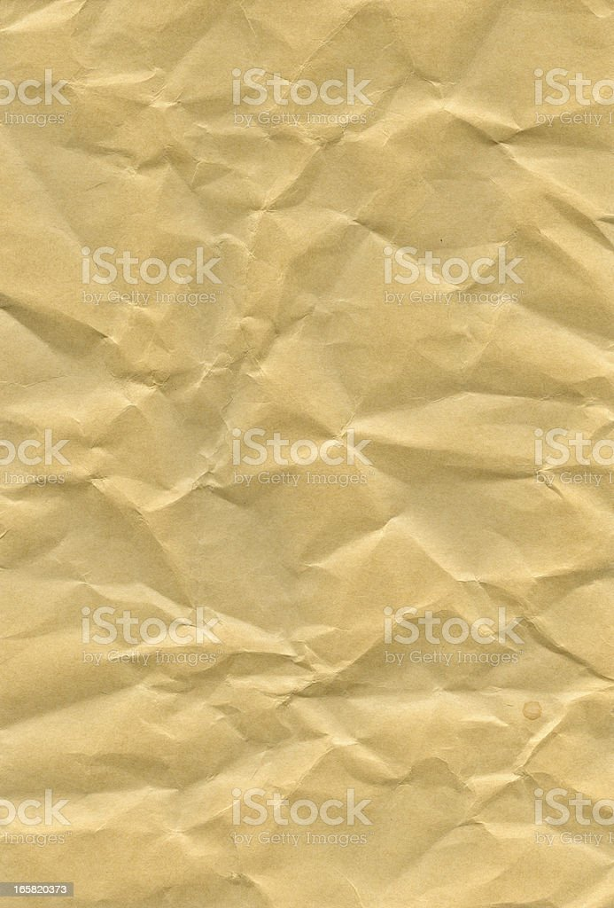 crumpled old paper royalty-free stock photo