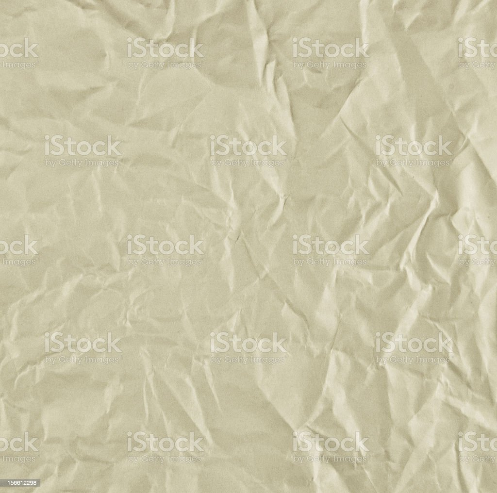 crumpled old paper texture royalty-free stock photo