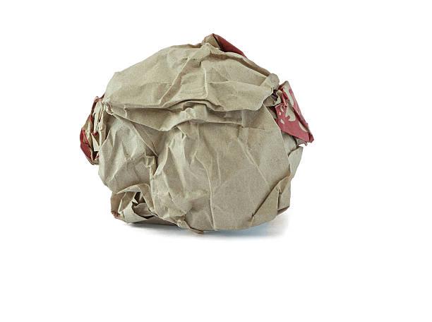 crumpled paper ball - balpress bildbanksfoton och bilder