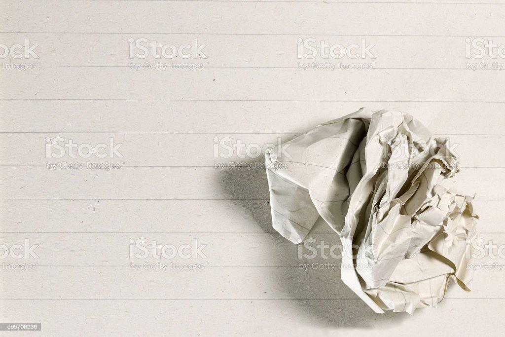 Crumpled paper ball stock photo
