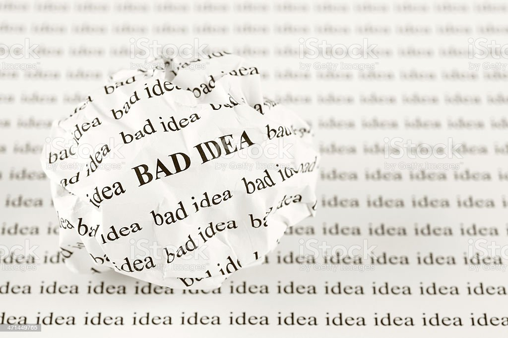 another word for bad idea