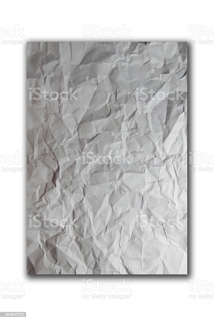Crumpled paper. royalty-free stock photo