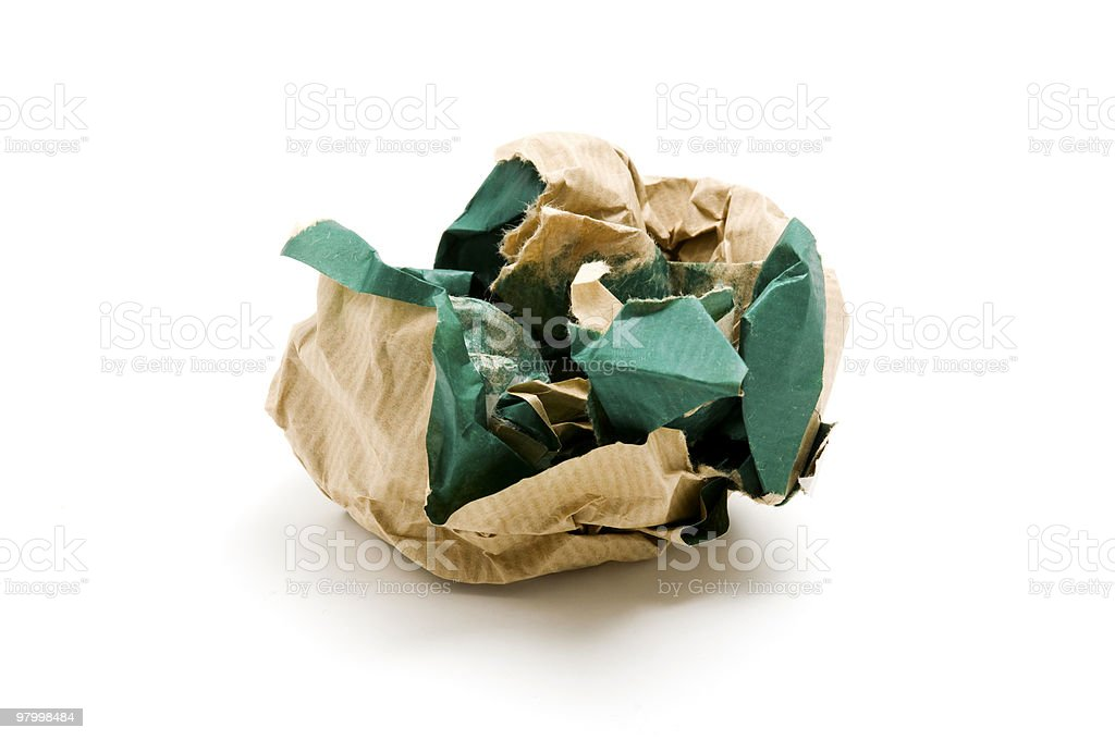 Crumpled paper royalty free stockfoto