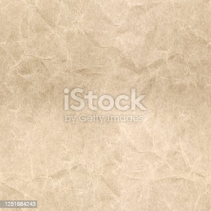 Crumpled paper texture. Seamless pattern.