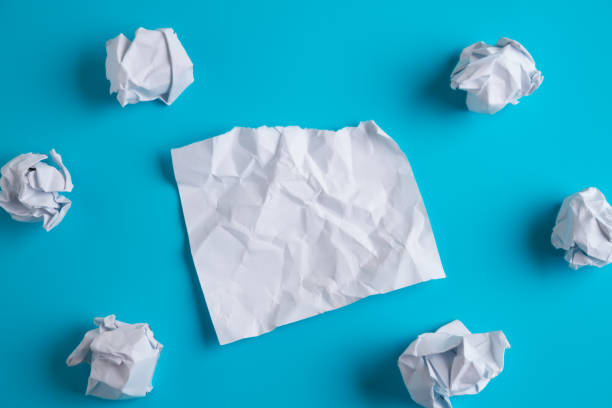 Crumpled paper with copy space