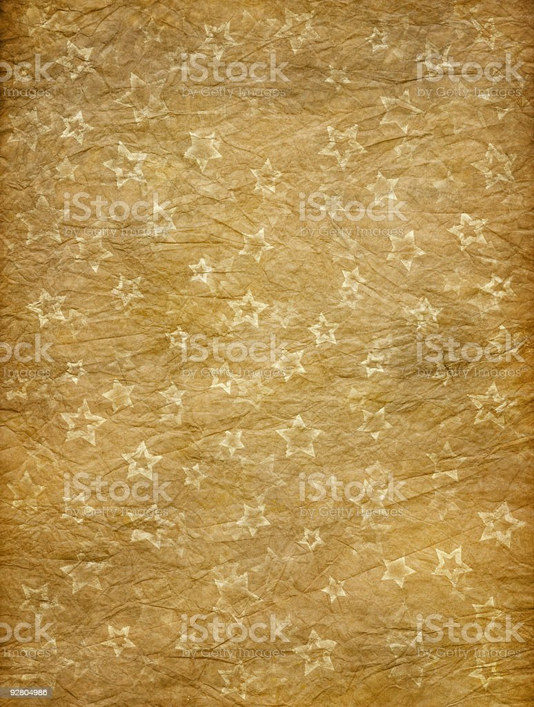 crumpled paper with misprinted grungy stars royalty-free stock photo