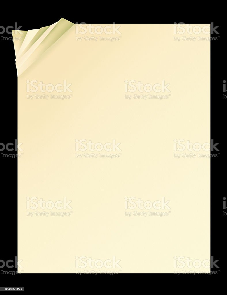 Crumpled Paper XXL royalty-free stock photo