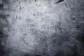 Crumpled piece of iron background, brushed metal texture