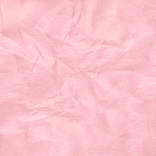 crumpled pink pastel colour paper texture for background. - femininity stock pictures, royalty-free photos & images
