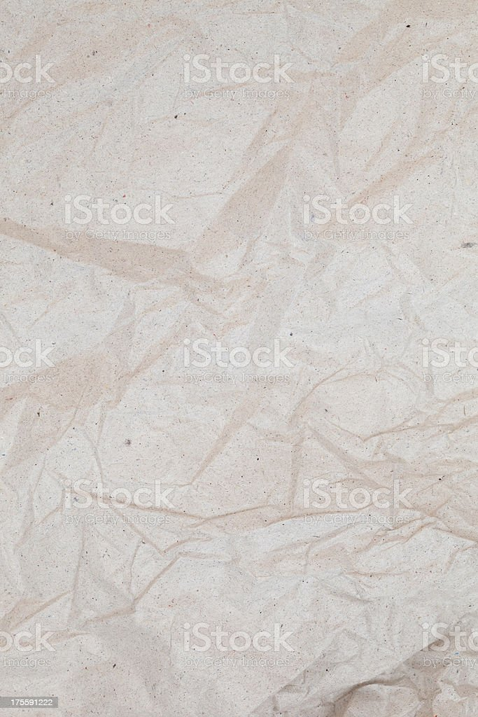 Crumpled recycled paper stock photo