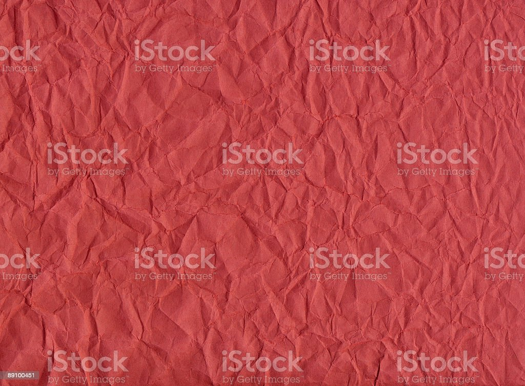 Crumpled Red Construction Paper Background royalty-free stock photo