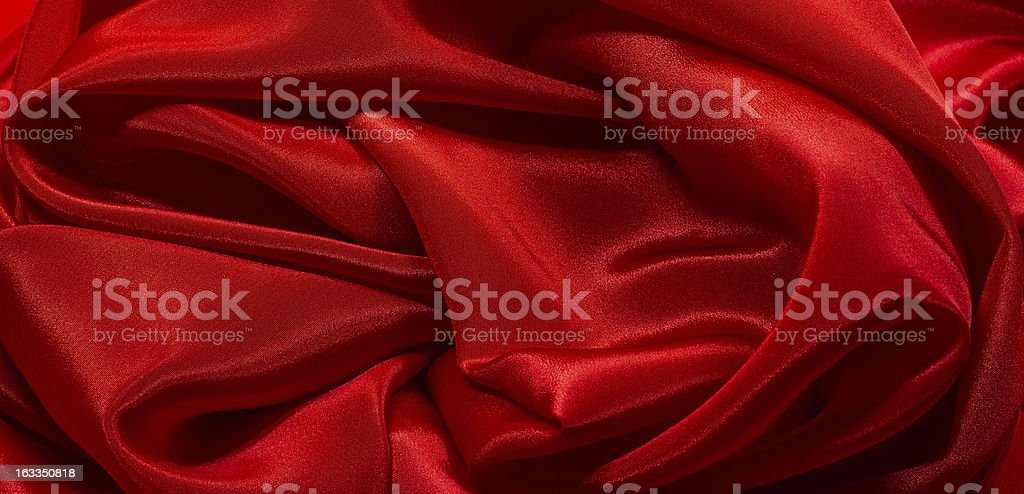 Crumpled red satin royalty-free stock photo