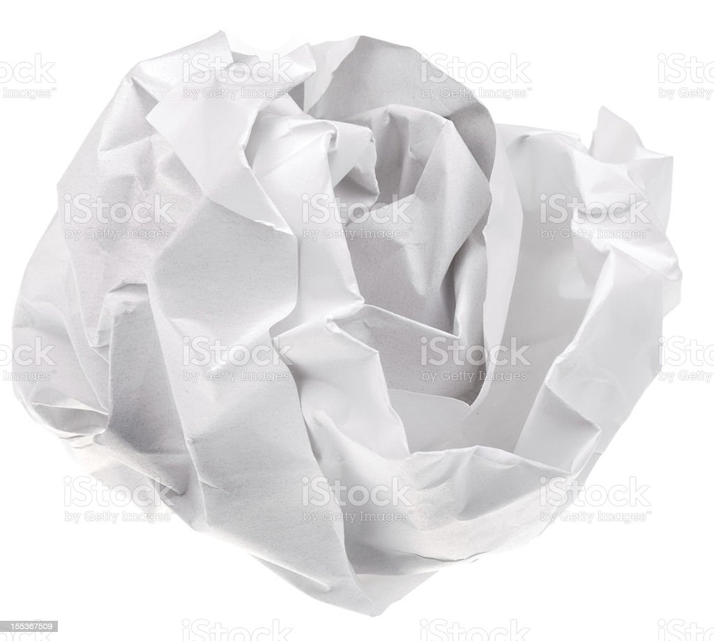crumpled sheet of paper royalty-free stock photo