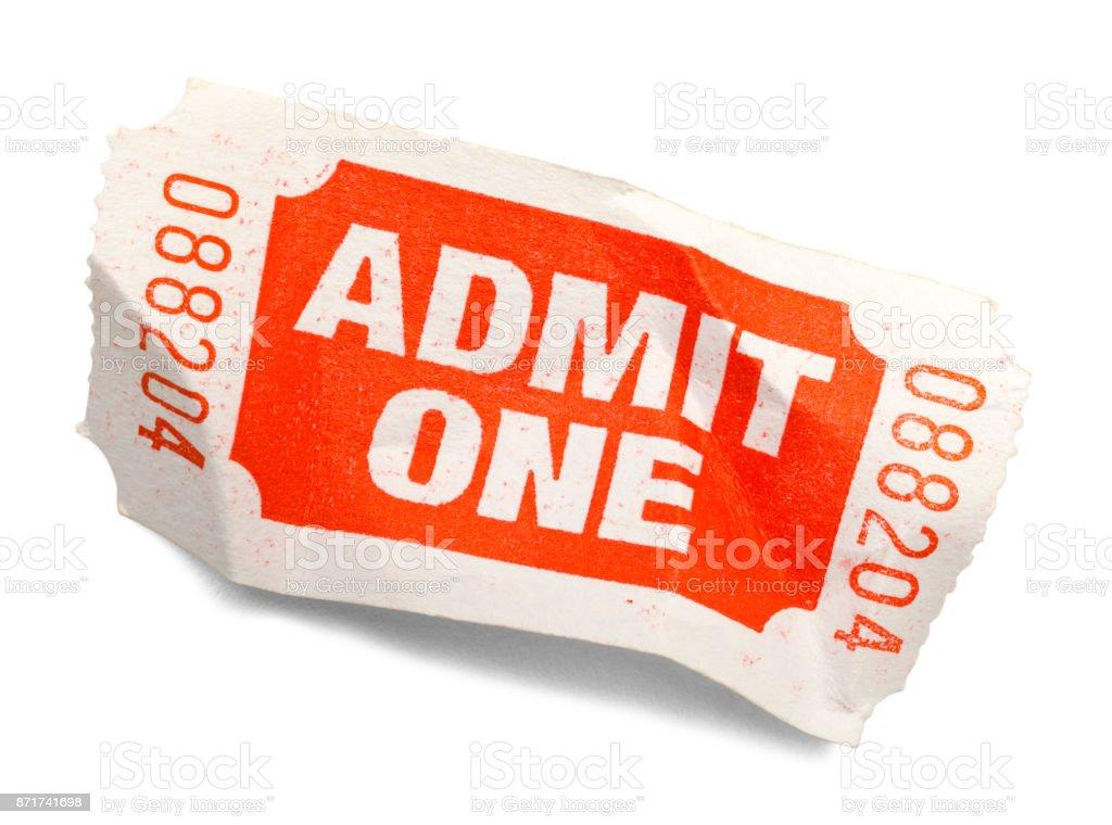 Crumpled Ticket stock photo