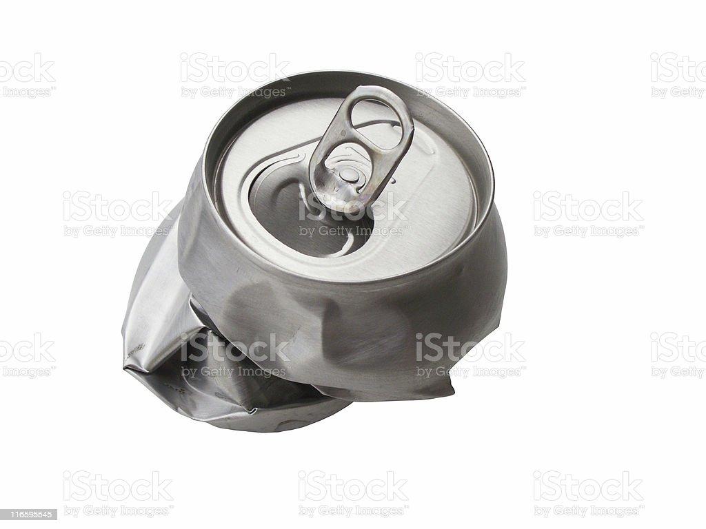 Crumpled tin stock photo