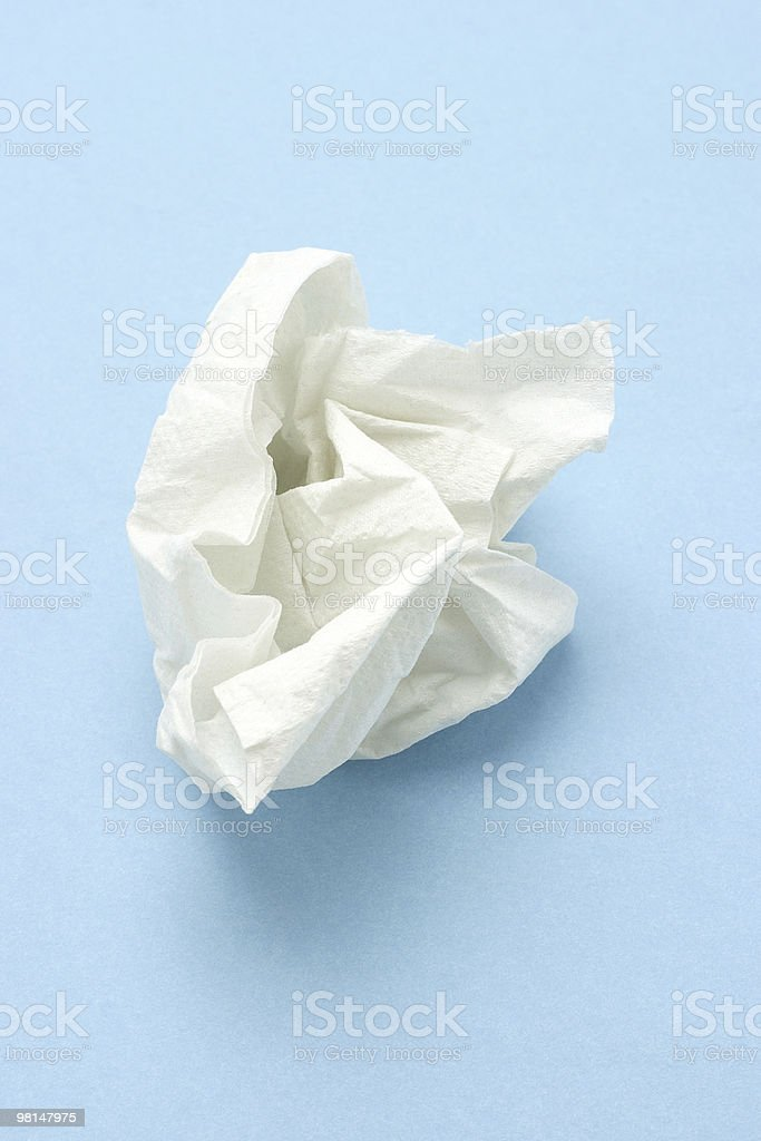 Crumpled tissue paper stock photo
