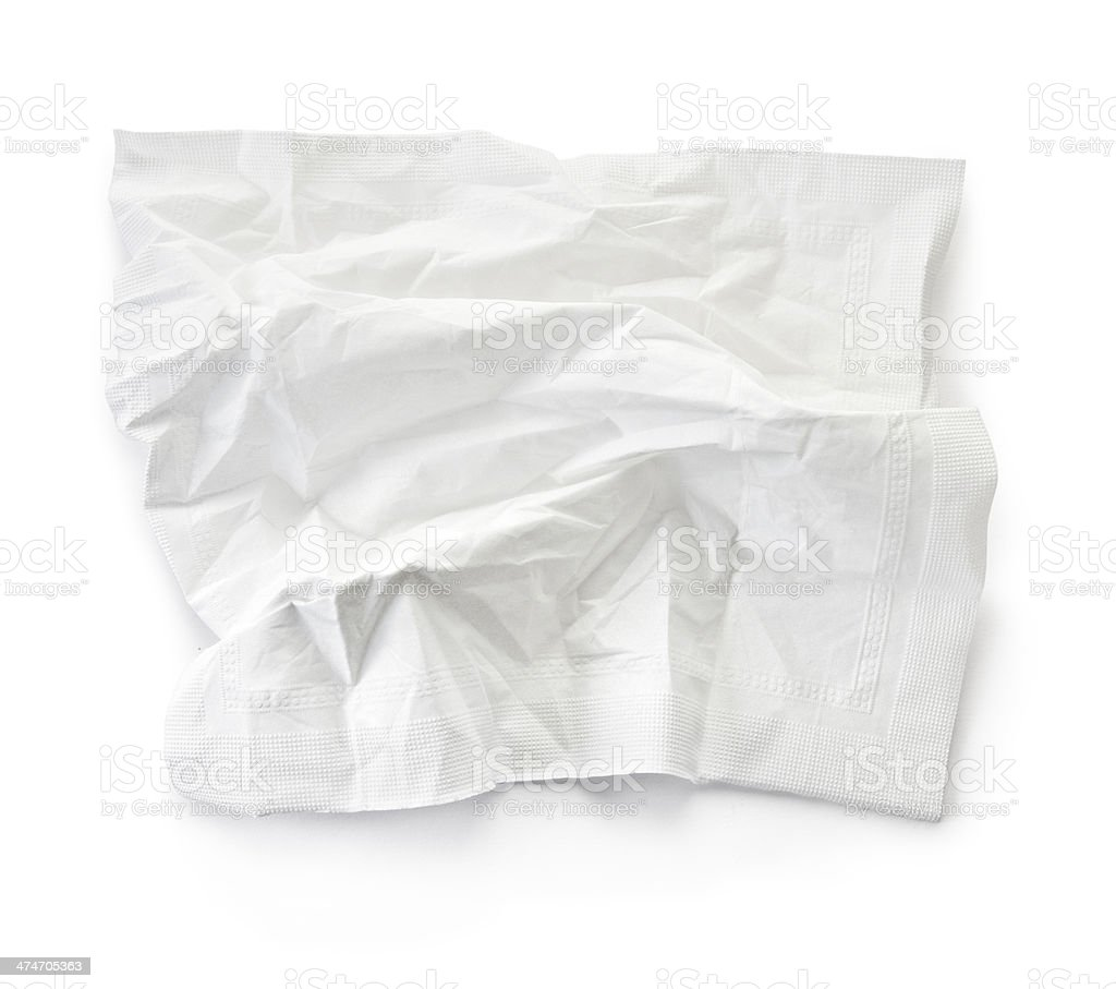 crumpled tissue stock photo