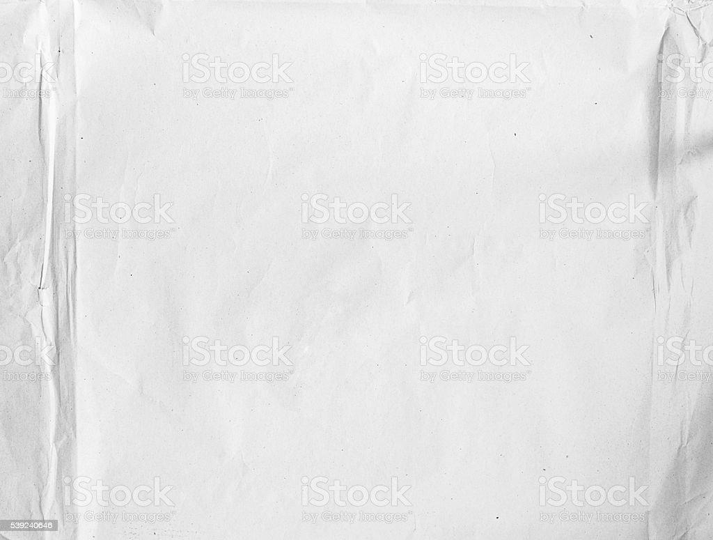 Arrugado de papel blanco en blanco foto de stock libre de derechos