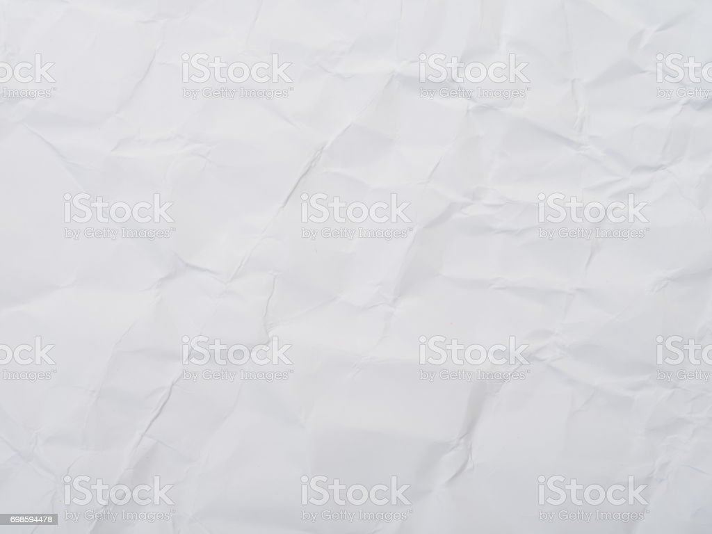 Crumpled white Construction Paper Background stock photo
